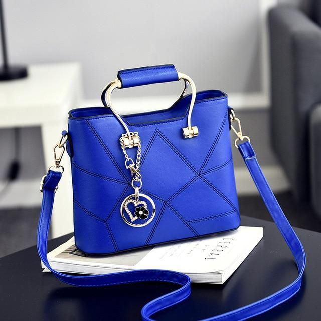 Ladies' PU Leather Luxury Designer Shoulder Bags Shoulder Bags Sky Blue SDRUIAO franchise Store