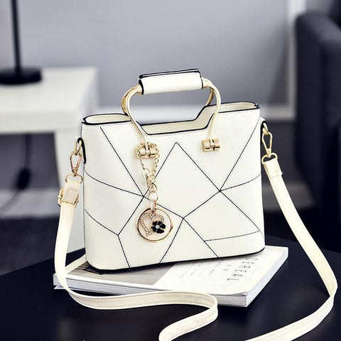 Ladies' PU Leather Luxury Designer Shoulder Bags Shoulder Bags White SDRUIAO franchise Store