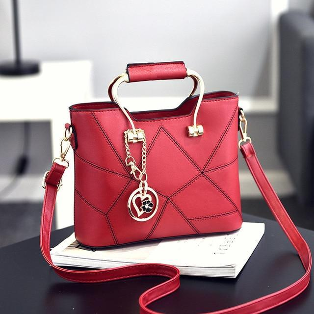 Ladies' PU Leather Luxury Designer Shoulder Bags Shoulder Bags Wine red SDRUIAO franchise Store