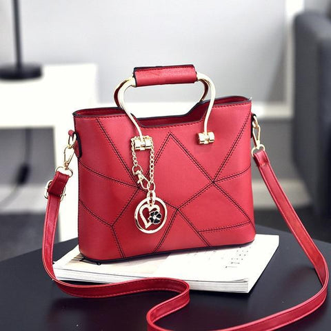 Image of Ladies' PU Leather Luxury Designer Shoulder Bags Shoulder Bags Wine red SDRUIAO franchise Store
