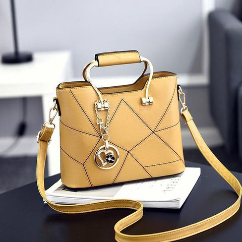 Image of Ladies' PU Leather Luxury Designer Shoulder Bags Shoulder Bags Yellow SDRUIAO franchise Store