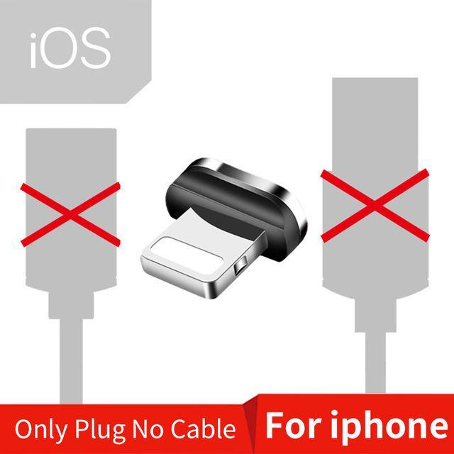 Magnetic USB Cable for iPhone and Android Mobile Phone Only iOS Plug / 1m