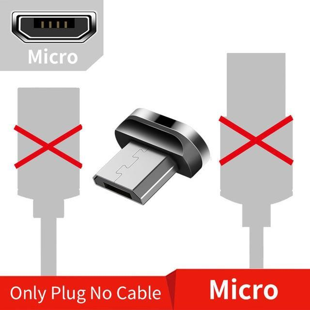 Magnetic USB Cable for iPhone and Android Mobile Phone Only Micro Plug / 1m