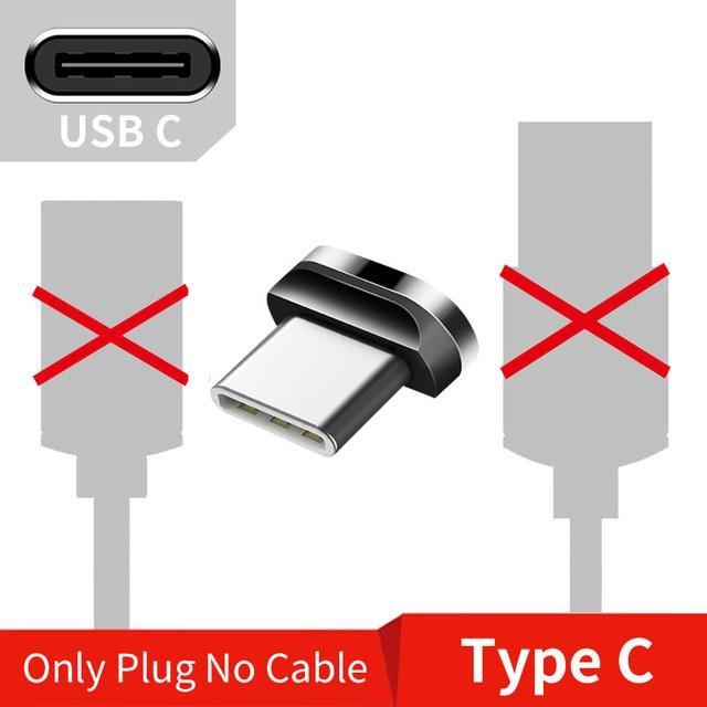 Magnetic USB Cable for iPhone and Android Mobile Phone Only Type C Plug / 1m