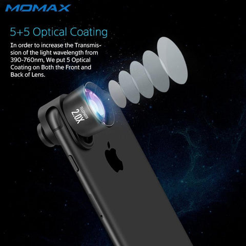 Momax 4 in 1 Mobile Phones Front Back Fisheye Kits Wide Angle Macro Camera Lentes Phone Camera lens for iPhone 5 6 7 8 6S Plus joeypatch