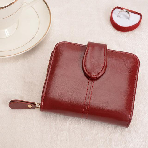 Image of Multifunctional Fashion Purse Small Wallet for women Wallets Burgundy COHEART Official Store