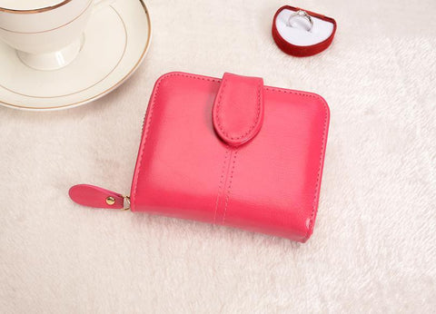 Image of Multifunctional Fashion Purse Small Wallet for women Wallets Red COHEART Official Store