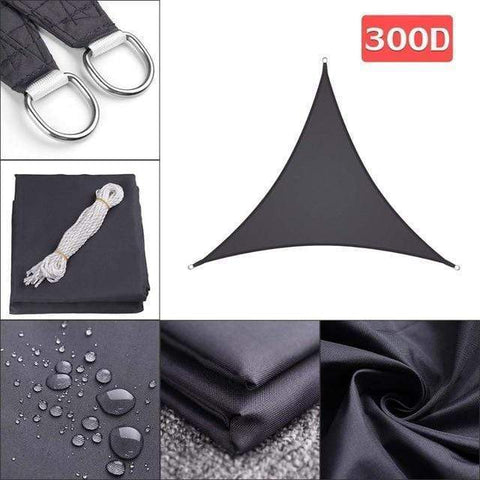Outdoor Waterproof Sun Shade Sail For Garden Patio Pool Camping Picnic Tent Black 3x3x4.3
