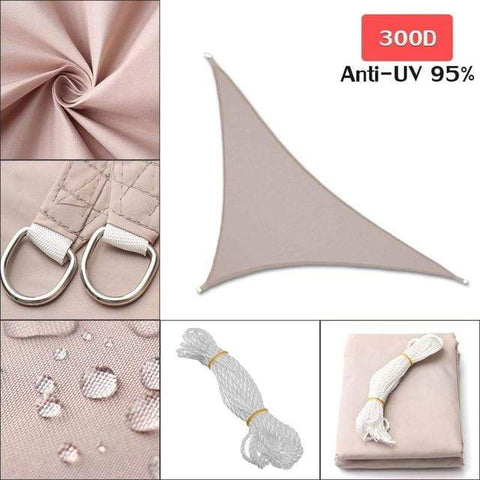 Image of Outdoor Waterproof Sun Shade Sail For Garden Patio Pool Camping Picnic Tent Khaki 3x3x4.3