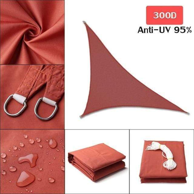 Outdoor Waterproof Sun Shade Sail For Garden Patio Pool Camping Picnic Tent Red 3x3x4.3