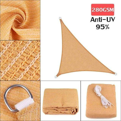 Image of Outdoor Waterproof Sun Shade Sail For Garden Patio Pool Camping Picnic Tent Sand 3x4x5