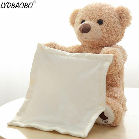 Peek A Boo Music Playing Stuffed Bear Plush Doll