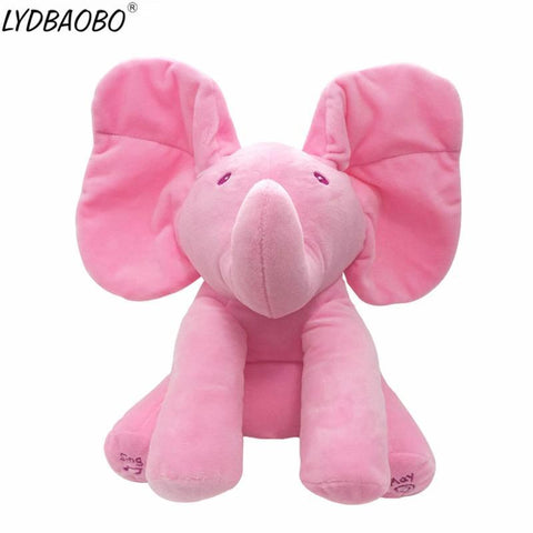 Peek A Boo Music Playing Stuffed Elephant Plush Doll joeypatch