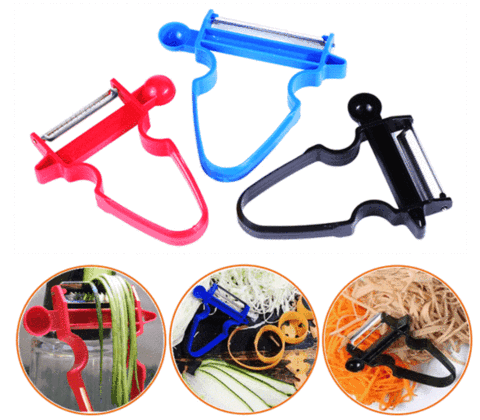 Image of Peeler Set For Shredder, Slicer and Julienne Peeler Set with Free Spiral Slicer joeypatch