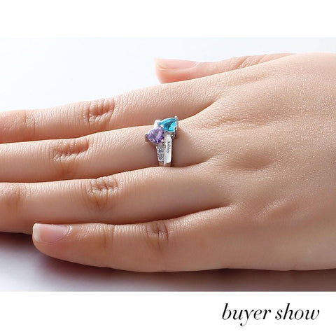 Image of Personalized Name Engraved Birthstone Ring joeypatch