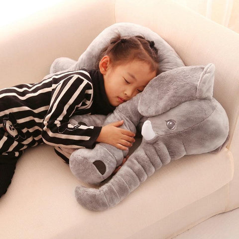 Plush Elephant stuffed Toy Kids Pillow Doll 40cm / beige