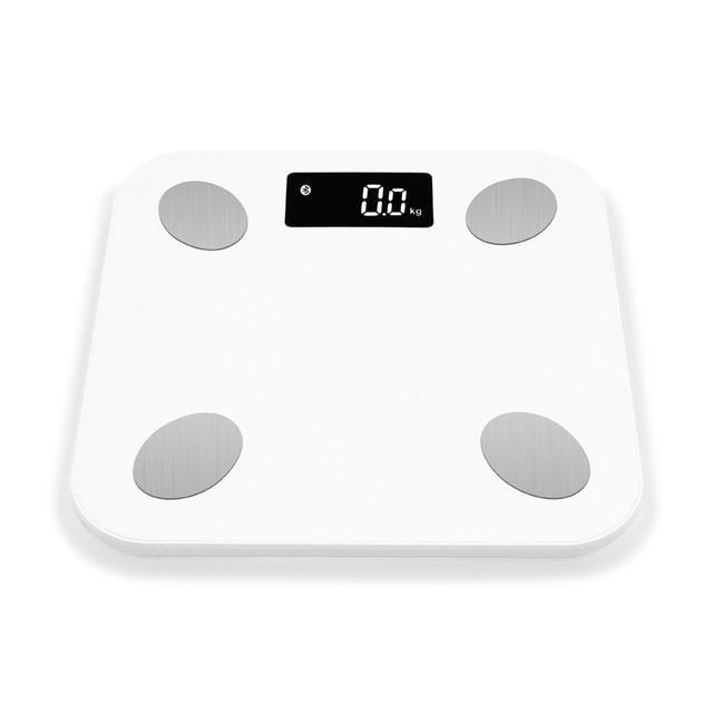 Smart Digital Bluetooth Wireless Weight Scale With Body Fat BMI and other Body Composition Analyzer With Smartphone White