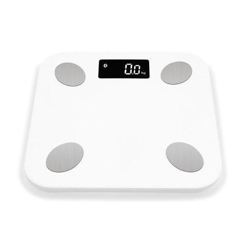 Image of Smart Digital Bluetooth Wireless Weight Scale With Body Fat BMI and other Body Composition Analyzer With Smartphone White