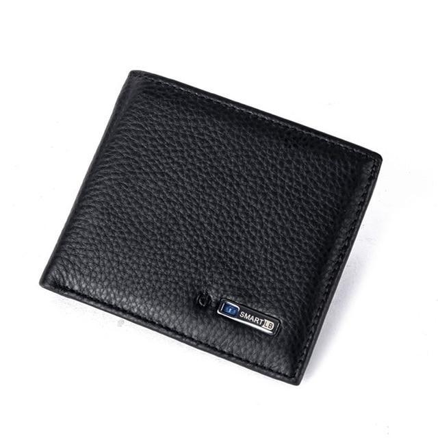 Smart Wallet for Men with Anti Lost Intelligent Bluetooth Black joeypatch