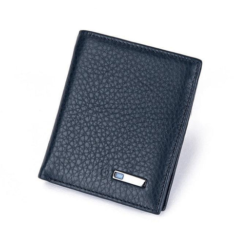 Smart Wallet for Men with Anti Lost Intelligent Bluetooth Vertical-Blue joeypatch