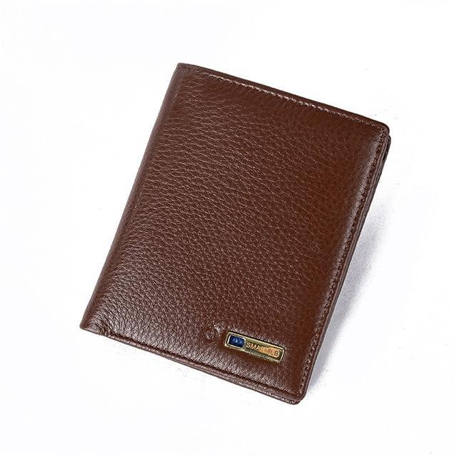 Smart Wallet for Men with Anti Lost Intelligent Bluetooth Vertical-Brown joeypatch