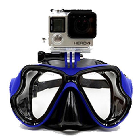 Snorkeling Diving Mask With Camera Mount Blue joeypatch