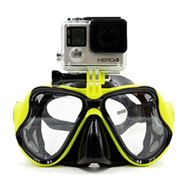 Snorkeling Diving Mask With Camera Mount Yellow joeypatch