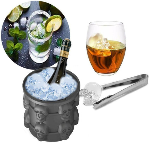 Space Saving Skull Shape ice Cube Maker Ice Cream Makers Ur Cabinet Store