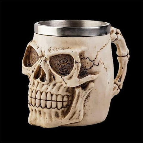 Image of Stainless Steel Goblet 3D Skull Skeleton Claw Wine Glasses Glass Beer Steins Halloween Party Drinking Glass Whiskey Cup 12 / 200ml