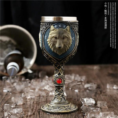 Image of Stainless Steel Goblet 3D Skull Skeleton Claw Wine Glasses Glass Beer Steins Halloween Party Drinking Glass Whiskey Cup 14 / 200ml