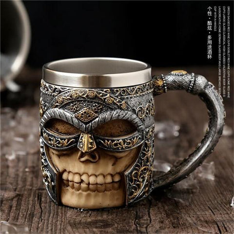 Image of Stainless Steel Goblet 3D Skull Skeleton Claw Wine Glasses Glass Beer Steins Halloween Party Drinking Glass Whiskey Cup 15 / 200ml