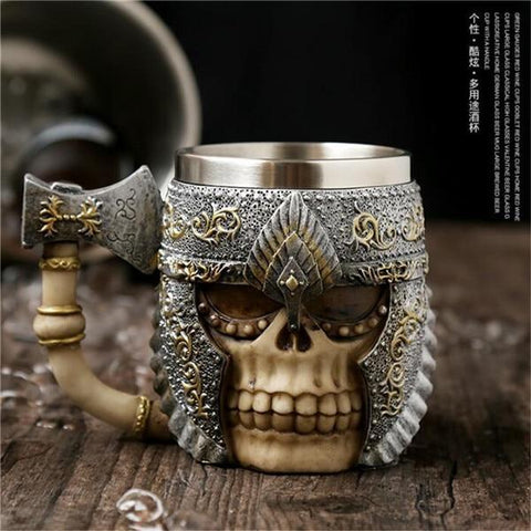 Image of Stainless Steel Goblet 3D Skull Skeleton Claw Wine Glasses Glass Beer Steins Halloween Party Drinking Glass Whiskey Cup