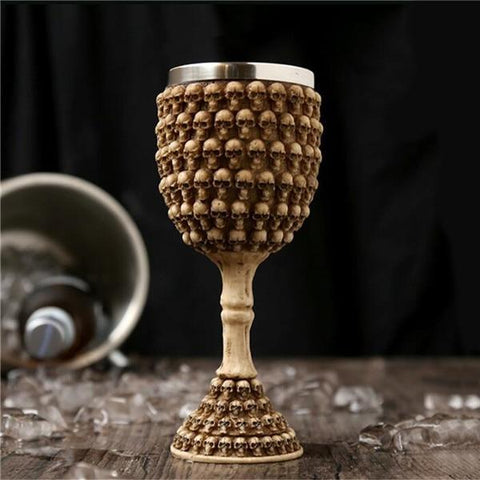 Stainless Steel Goblet 3D Skull Skeleton Claw Wine Glasses Glass Beer Steins Halloween Party Drinking Glass Whiskey Cup 4 / 200ml