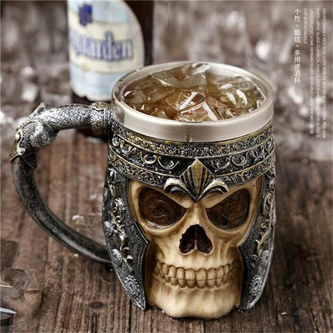Stainless Steel Goblet 3D Skull Skeleton Claw Wine Glasses Glass Beer Steins Halloween Party Drinking Glass Whiskey Cup 7 / 200ml