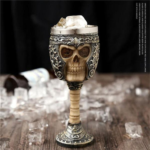 Image of Stainless Steel Goblet 3D Skull Skeleton Claw Wine Glasses Glass Beer Steins Halloween Party Drinking Glass Whiskey Cup 8 / 200ml