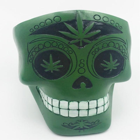 Statues Africa Home Decor Ashtrays Skull For Decoration Handicraft Human Resin Skull Abstract Sculptures Art Carving Statue Army Green