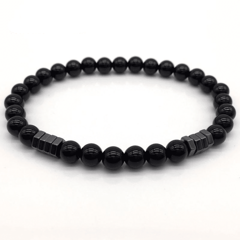 Image of Stone Bead Charm With Column Hematite Bracelet Charm Bracelets Matte NAIQUBE Official Store