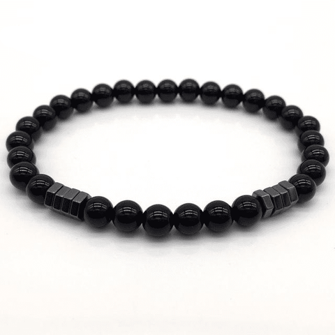Image of Stone Bead Charm With Column Hematite Bracelet Charm Bracelets NAIQUBE Official Store