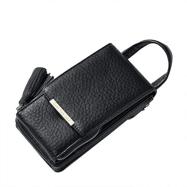 Tassel Mobile Purse Bag Wallets Black MAILAER Store