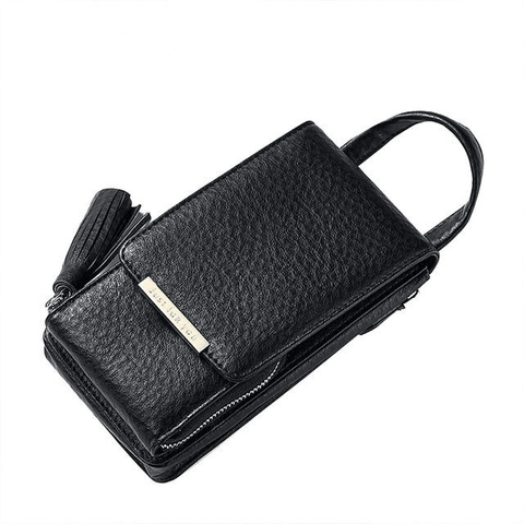 Image of Tassel Mobile Purse Bag Wallets Black MAILAER Store