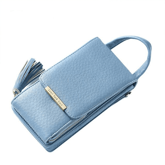 Tassel Mobile Purse Bag Wallets Blue MAILAER Store