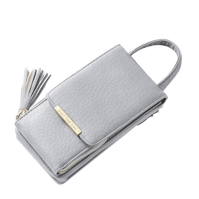 Tassel Mobile Purse Bag Wallets Grey MAILAER Store