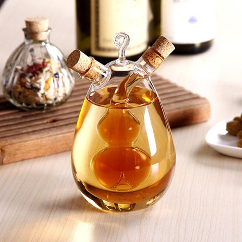 The Nordic amorous feelings Creative the leak oil pot/glass condiment bottles sealed pot/soy sauce vinegar pot  bottle for bar