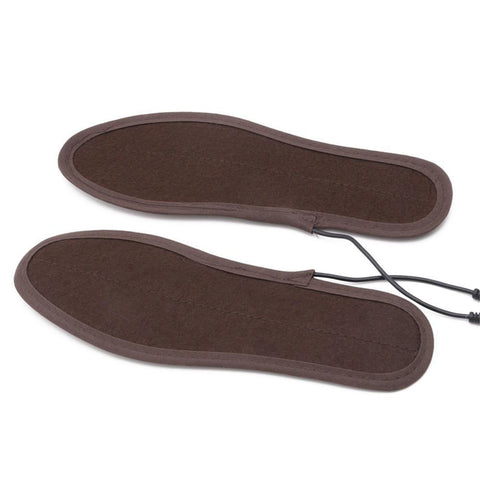 USB Electric Powered Plush Fur Heating Insoles joeypatch