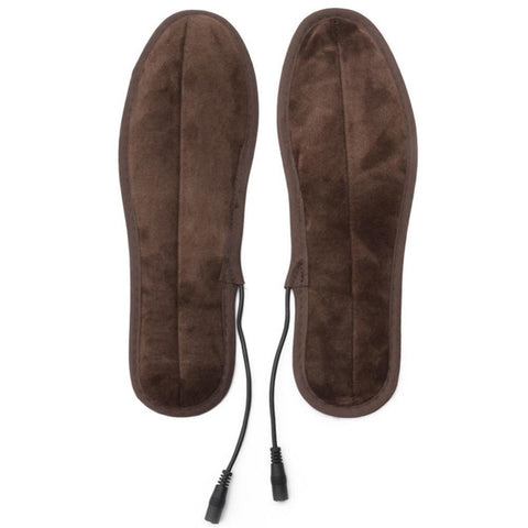 Image of USB Electric Powered Plush Fur Heating Insoles joeypatch