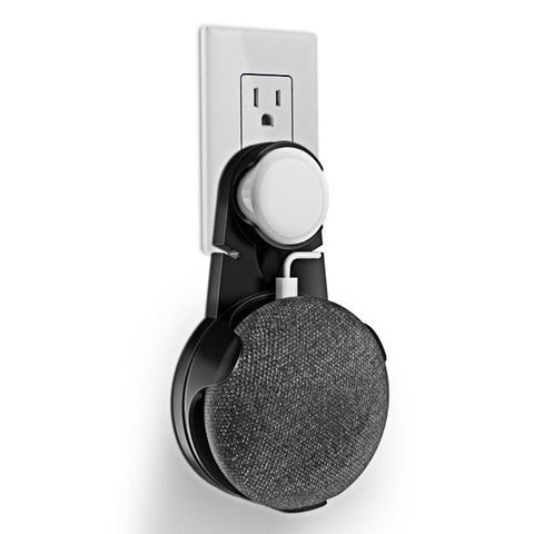 Wall Mount Outlet Hanger Stand For Google Home Mini Black joeypatch