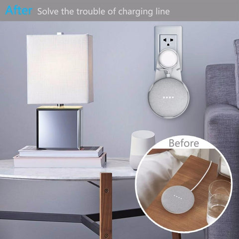 Wall Mount Outlet Hanger Stand For Google Home Mini joeypatch