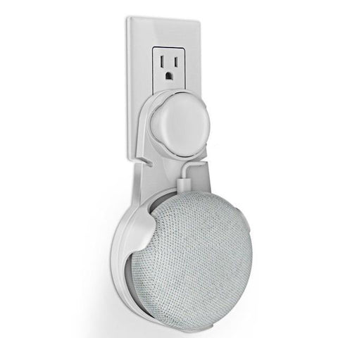 Wall Mount Outlet Hanger Stand For Google Home Mini White joeypatch