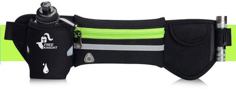 Image of Waterproof Running Waist Sport Belt With Water Bottle Running Bags STOUREG Store