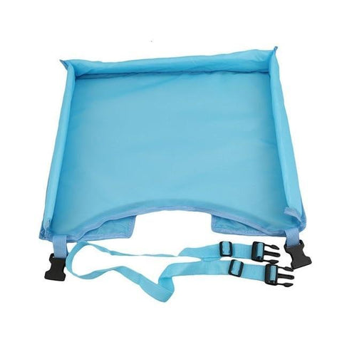 Waterproof table Car Seat Tray Storage Kids Toys Infant Stroller Holder for Children 5 Colors SA878793 Light blue